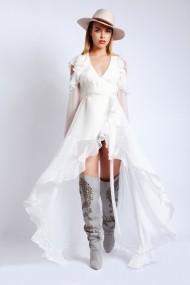 Rochie lunga Monarh Design MN833 Alba