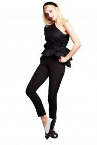 Pantaloni drepti Monarh Design MN605 Negri