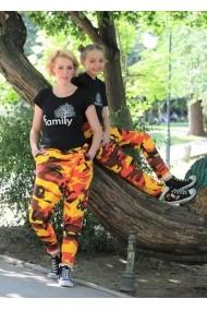 Set mama-fiica pantaloni unisex FamilyFashion Camuflaj