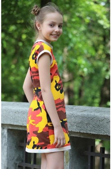 Rochie fetita FamilyFashion Camuflaj multicolor