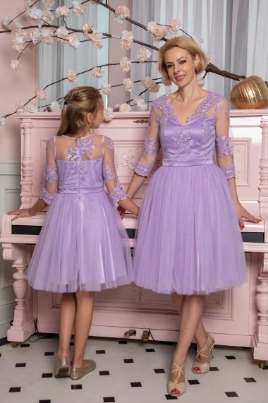Set rochie mama-fiica FamilyFashion Eva Lila