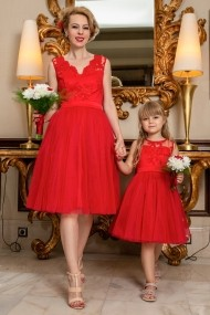 Set rochie mama-fiica FamilyFashion Eva Rosu