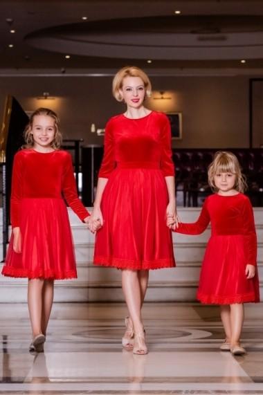 Set rochii mama-fiica FamilyFashion Katia Rosu