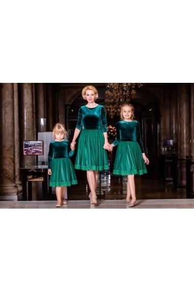 Set rochii mama-fiica FamilyFashion Katia Verde