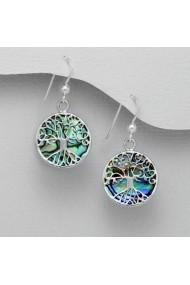 Cercei Fine Jewelry cu Copacul Vietii din argint veritabil 925 cu sidef