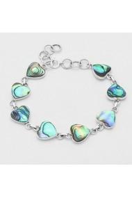 Bratara Fine Jewelry cu inimi din argint veritabil 925 si sidef