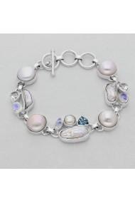 Bratara Fine Jewelry din argint veritabil 925 cu perle naturale si pietre semipretiose