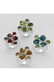 Inel Fine Jewelry din argint veritabil 925 cu pietre semipretioase. Handmade.