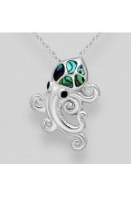 Pandantiv Fine Jewelry Caracatita din argint veritabil 925 si sidef