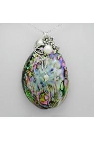 Pandantiv Fine Jewelry din argint veritabil 925 cu perle naturale si sidef