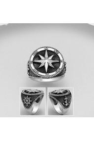 Inel Fine Jewelry din argint veritabil 925 cu ancora si compas