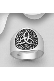 Inel Fine Jewelry din argint veritabil 925 cu model celtic 1130