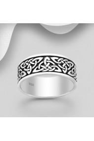 Inel Fine Jewelry din argint veritabil 925 cu model celtic 1172