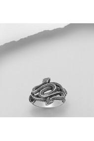 Inel Fine Jewelry din argint veritabil 925 cu sarpe cu doua capete