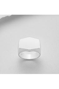 Inel Fine Jewelry din argint veritabil 925 hexagon
