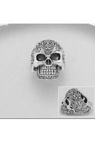 Inel Fine Jewelry masiv din argint veritabil 925 cu cap de mort