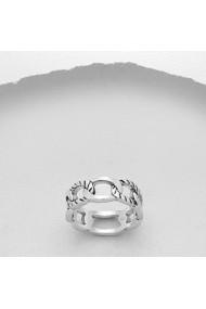 Inel Fine Jewelry masiv din argint veritabil 925 cu zale