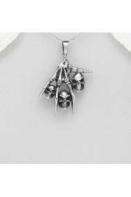 Pandantiv Fine Jewelry din argint veritabil 925 cu gheara si capete de mort