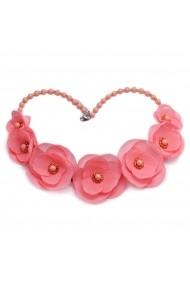 Colier cu flori Zia Fashion Rosalina roz