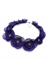 Colier cu flori Zia Fashion Purple Bloom mov