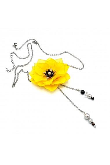 Colier lung Zia Fashion Daisy floare galbena