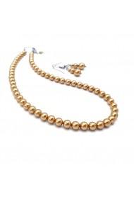 Set perle Zia Fashion Golden Queen auriu