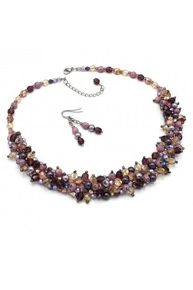 Set colier si cercei Zia Fashion Purple Candy mov