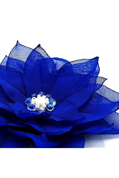 Agrafa par floare Zia Fashion Blue Queen albastru