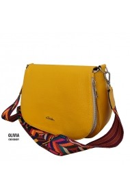 Geanta MCLeather Olivia Crossbody Galbena