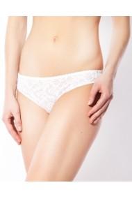 Slip tip bikini Rosme cu dantela elastica Alb