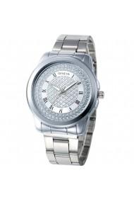 Ceas de dama Geneva CS562 bratara metalica Argintiu