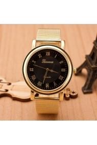 Ceas de dama Geneva CS469 Bratara metalica Auriu