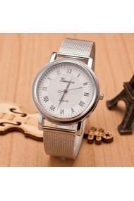 Ceas de dama Geneva CS468 bratara metalica Argintiu