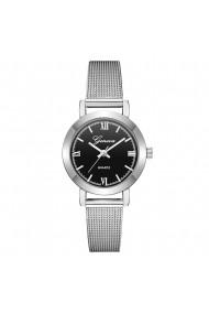 Ceas de dama Geneva CS651 bratara metalica Argintiu
