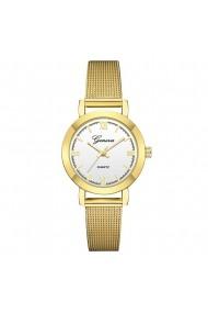 Ceas de dama Geneva CS652 bratara metalica Auriu