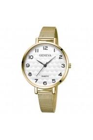 Ceas de dama Geneva CS671 bratara metalica Auriu