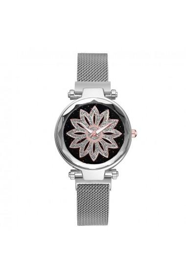 Ceas de dama GENEVA CS1026 Starry Sky Argintiu