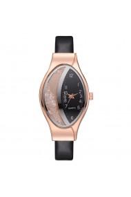 Ceas de dama Geneva CS1102 curea piele Negru