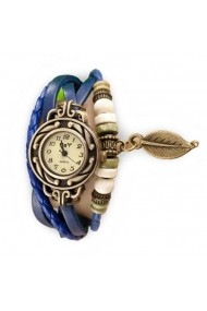 Ceas de dama Retro Vintage CS03 curea piele Albastru