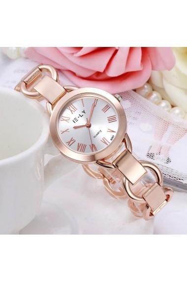 Ceas de dama E-LY cs303 cu bratara metalica Auriu