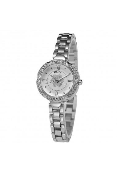 Ceas de dama E-LY CS233 bratara metalica Argintiu