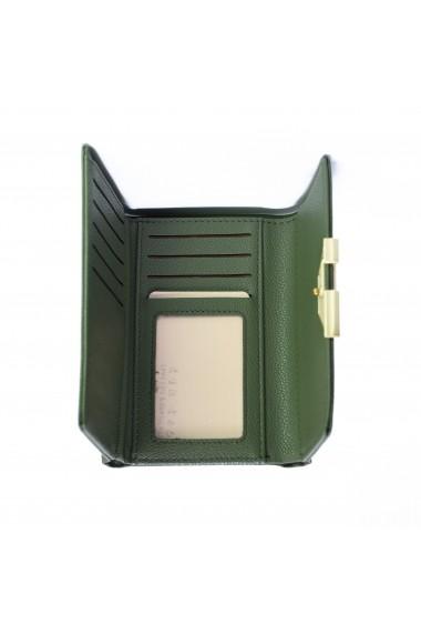 Portofel Forever Young PT253 piele ecologica calitate Premium green
