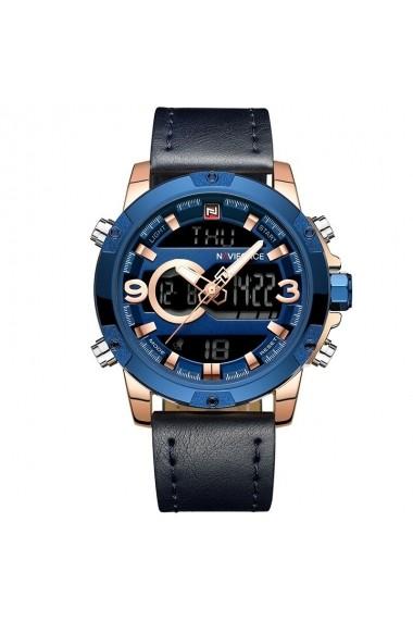 Ceas pentru barbati NAVIFORCE CS1202 piele albastru inchis