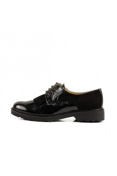 Pantofi Oxford Peter 100% Piele Naturala Negru Lac