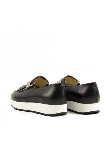 Mocasini Peter 100% Piele Naturala Urban Sneakers Liuba Negru Sarpe