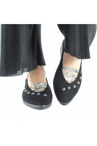 Pantofi slingback cu perle Donna Mia Negru