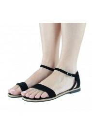 Sandale casual flat Donna Mia Negru