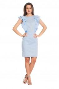 Rochie Tinka in dungi bleu