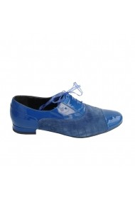 Pantofi oxford Veronesse piele naturala albastru