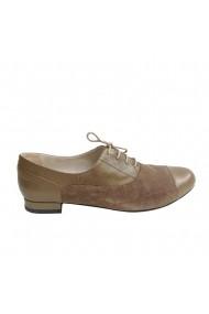 Pantofi oxford Veronesse piele naturala kaki